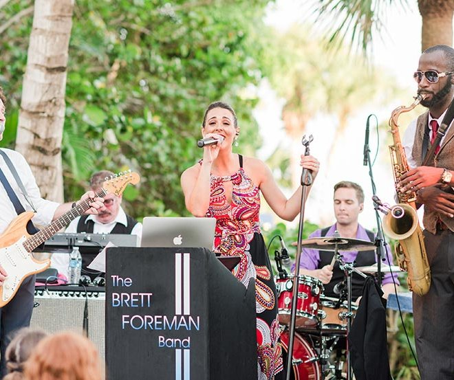 The Brett Foreman Band, lead by Brett Foreman, a musical artist group managed by Foreman Productions, Inc. Southwest Florida's premier talent booking, talent management and event consulting agency.