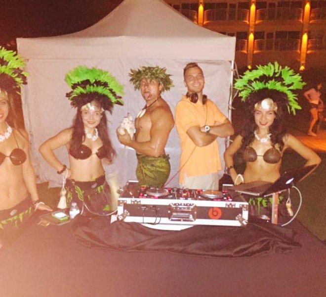 DJ BoTY and other entertainment performers at a Southwest Florida event