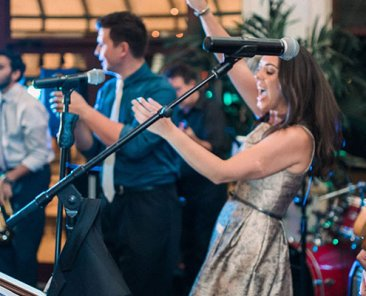 The Brett Foreman Band performing at a wedding reception in Southwest Florida